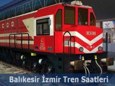 Balıkesir İzmir Tren Saatleri