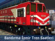 Bandırma İzmir Tren Saatleri